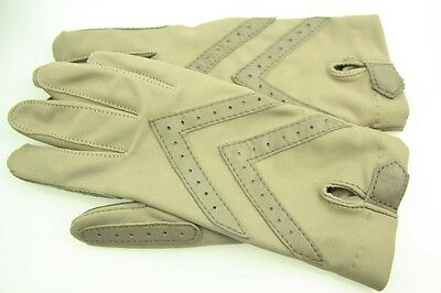 Vintage Pair Isotoner Classic Ladies Gloves With Leather Trim -  Boxed