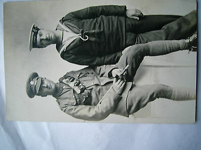 Ww1 Postcard Sailor And Soldier