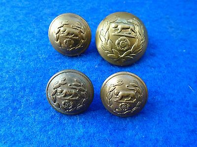 Job Lot Of Mixed Wwi/wwii Royal Hampshire Regiment Officers Brass Tunic Buttons