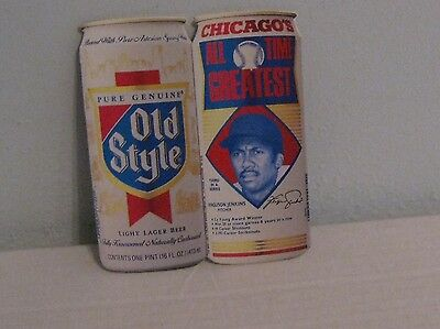 Ferguson Jenkins Chicago's All Time Greatest & Heilemans Old Style Paper Can