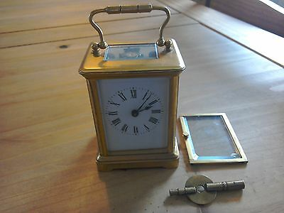 Small Brass  French Carriage Clock.