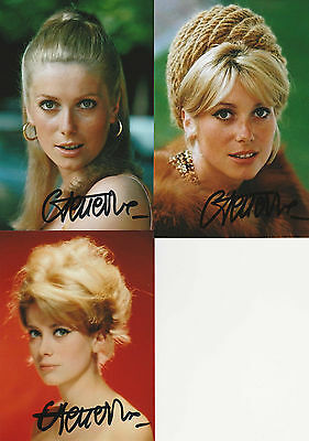 Catherine Deneuve - 3 x original Autogramme - signed