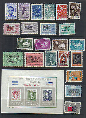 Argentina  1960-64 Lightly mounted mint Collection