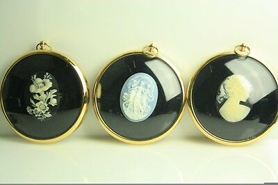 Vintage Collection Three Peter Bates Miniatures Three Graces, Cameo & Flowers