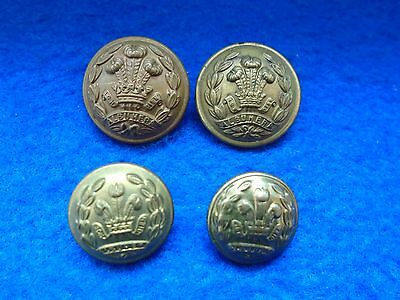 Job Lot Of Wwi/ii Middlesex Regiment Brass Tunic Buttons, Jennens, Army & Navy