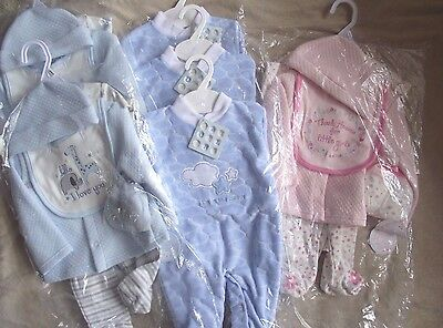 Wholesale joblot quality baby clothing 3 x 6 piece set & 3 x babygrows BNWT