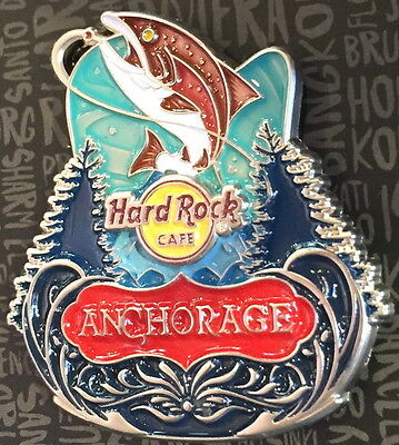 Hard Rock Cafe ANCHORAGE ALASKA 2017 Core City ICONS Series PIN New on CARD!