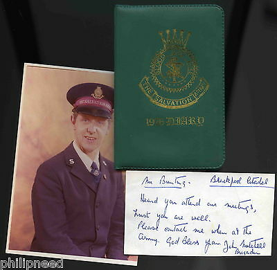 Salvation Army 1976 Diary Of Enrolled Soldier Bunting Blackpool Citadel & Photo