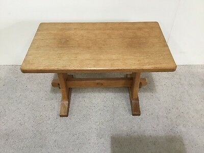 Acorn Man Antique Oak Coffee Table Mouseman Interest Adazed Oak