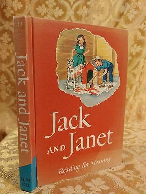 1957 Jack & Janet Reading for Meaning Children's Book Illustrated Kids Learning