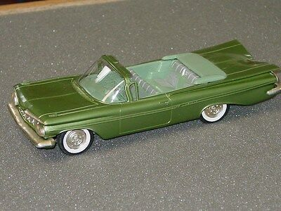 Vintage Plastic 1959 Chevy Impala Dealer Promo Car Convertible, Green