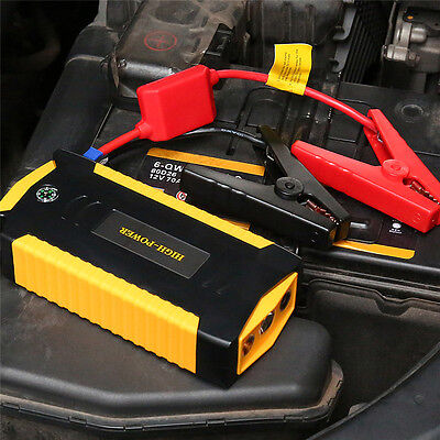 Portable 12V LED Car Jump Starter Mobile Emergency Battery Booster Power Bank