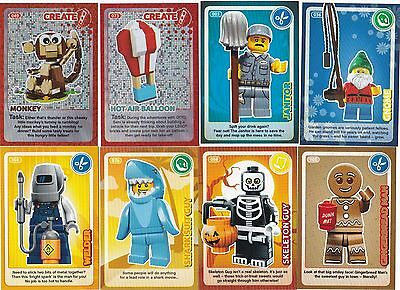 "Sainsburys LEGO ""Create The World"" Cards - Set of 8 inc Foil Cards 049, 073 -NEW"