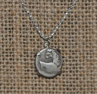 Thrace Chersonesos Authentic Silver Hemidrachm Coin 925 Sterling Silver Necklace