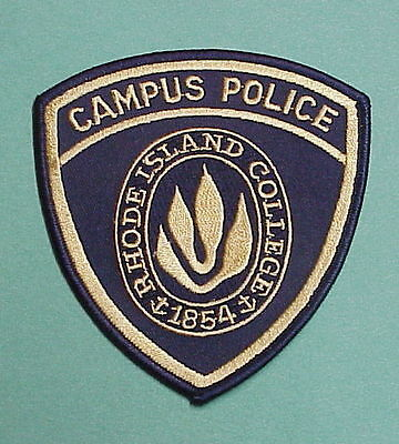 Rhode Island  College  Campus  Police Patch  Nice!!  Free Shipping!!