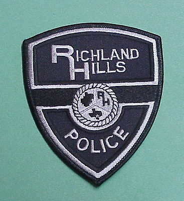 Richland Hills  Texas  Tx  Subdued  Police Patch    Free Shipping!!!