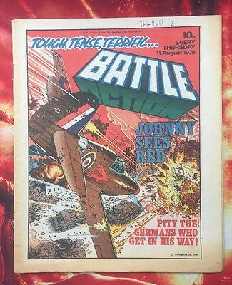 Battle Action Comic 11 August 1979.  Vfn.  Charley's War -  Joe Colquhoun