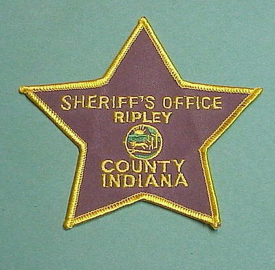 Ripley County  Indiana  In  Sheriff / Police Patch  Nice!!   Free Shipping!!!