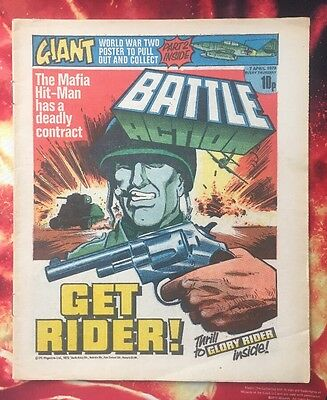 Battle Action Comic 7 April 1978. Vfn.  Charley's War -  Joe Colquhoun