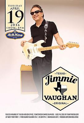 JIMMIE VAUGHAN 2016 NEW YORK CITY CONCERT TOUR POSTER- Electric/Texas/Jazz Blues