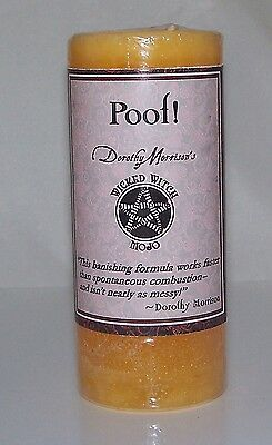 4 Pack POOF Banishing MOJO Candle Coventry Creations Wicked Witch Wicca Magick