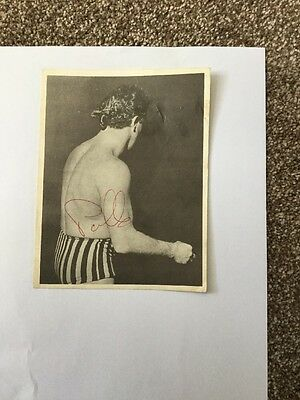 Mr. Tv Jackie Pallo Wrestling Star Autograph On Picture