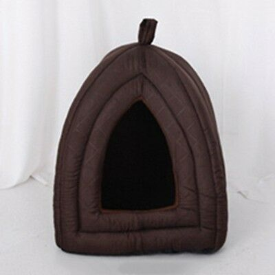 New Pet House Cat Dog Kennel Puppy Kitten Soft Warm Bed Tent Washable Cushion