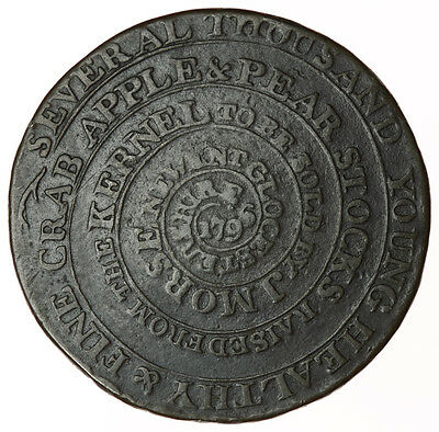 1796 Newent Halfpenny ~ D&H65 Gloucestershire ~ Industry Leads To Honour