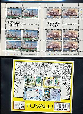 TUVALU Ships London Hill Blocks Sheets MNH (9 Items)OV2066