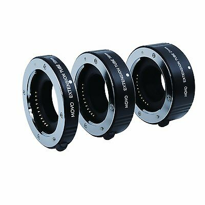 Movo AF Macro Extension Tube Set for Fujifilm X-Mount Mirrorless Cameras