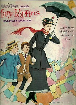 Mary Poppins Two Uncut Original Books  Whitman 1977 & 1982