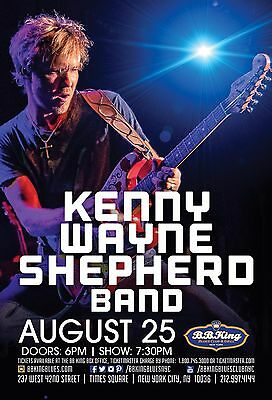 KENNY WAYNE SHEPHERD BAND 2016 NEW YORK CONCERT TOUR POSTER - Blues / Roots Rock