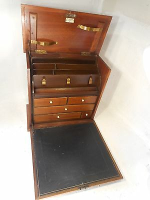 Antique Desktop Mahogany Stationey Box , Writing Box , ref 3037