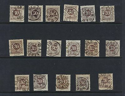 Sweden Scott 35 USED X 17 Town Cancels