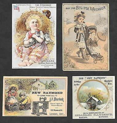 Four Victorian Trade Cards, Raymond Guelph, London,  Standard Cleveland,