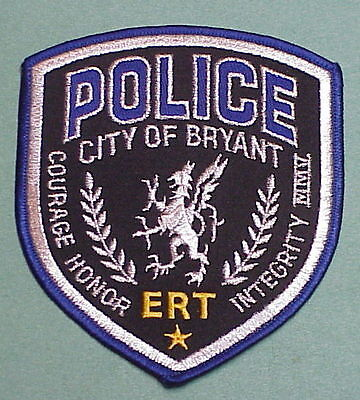Bryant  Arkansas  Ar  Ert   Police Patch  Very Nice!!  Free Shipping!!!