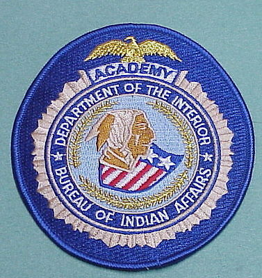 Bureau Of Indian Affairs  Dept. Of The Interior  Academy  /  Police Patch