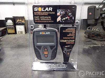 SOLAR BA9 40-1200 CCA Digital Battery and System Tester New