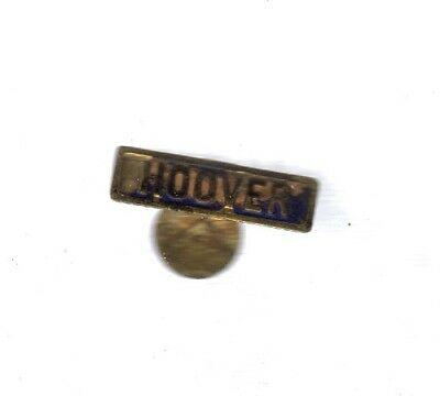 Rare Vintage President Hoover Metal Fold Over Tag Pin