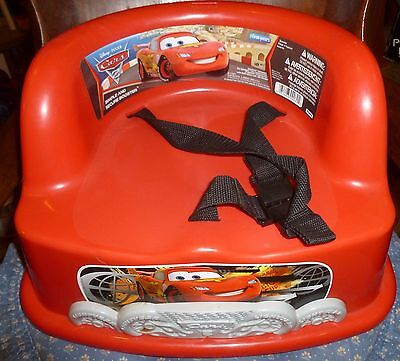 Disney/Pixar CARS MOVIE CHILD'S RED BOOSTER SEAT For Chair w/ Buckle 18+ Mo, Exc