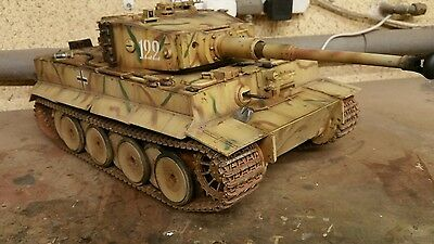 torro 1/16 rc tiger 1 tank model.weathered LOOK!