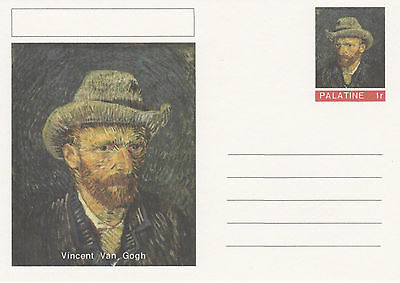 CINDERELLA - 4438 - VINCENT VAN GOGH on Fantasy Postal Stationery card