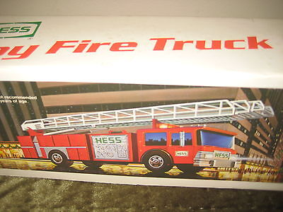 Vintage 1980S Hess Fire Truck Bank With Box