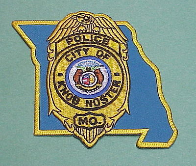 Knob Noster  Missouri  Mo   ( State Shape )  Police Patch  Free Shipping!!!