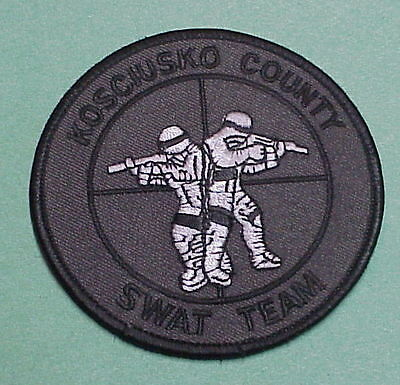 Kosciusko County  Indiana  In  Swat  Subdued  Police Patch   Free Shipping!!!