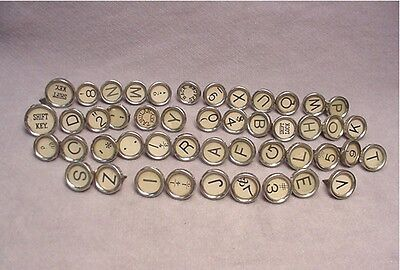 Vintage Set Underwood Typewriter KEYS 47