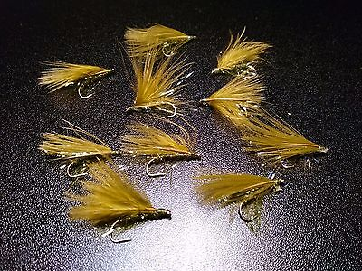 Olive Cormorant Trout Lures Dry Wet Fly Fishing Trout Flies