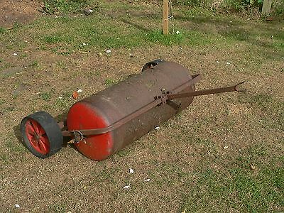 """Cast Iron Roller / scarifier: 34"""" x 14"""" - towable for ride-on mowers"""