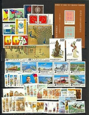 China - small collection of Mint NH complete sets (Catalog Value $82.30)