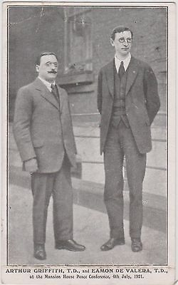 EAMON De VALERA & ARTHUR GRIFFITH. IRELAND IRISH VOLUNTEERS. PEACE CONFERENCE.